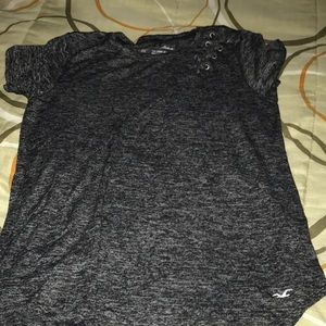 This is a gray T-shirt